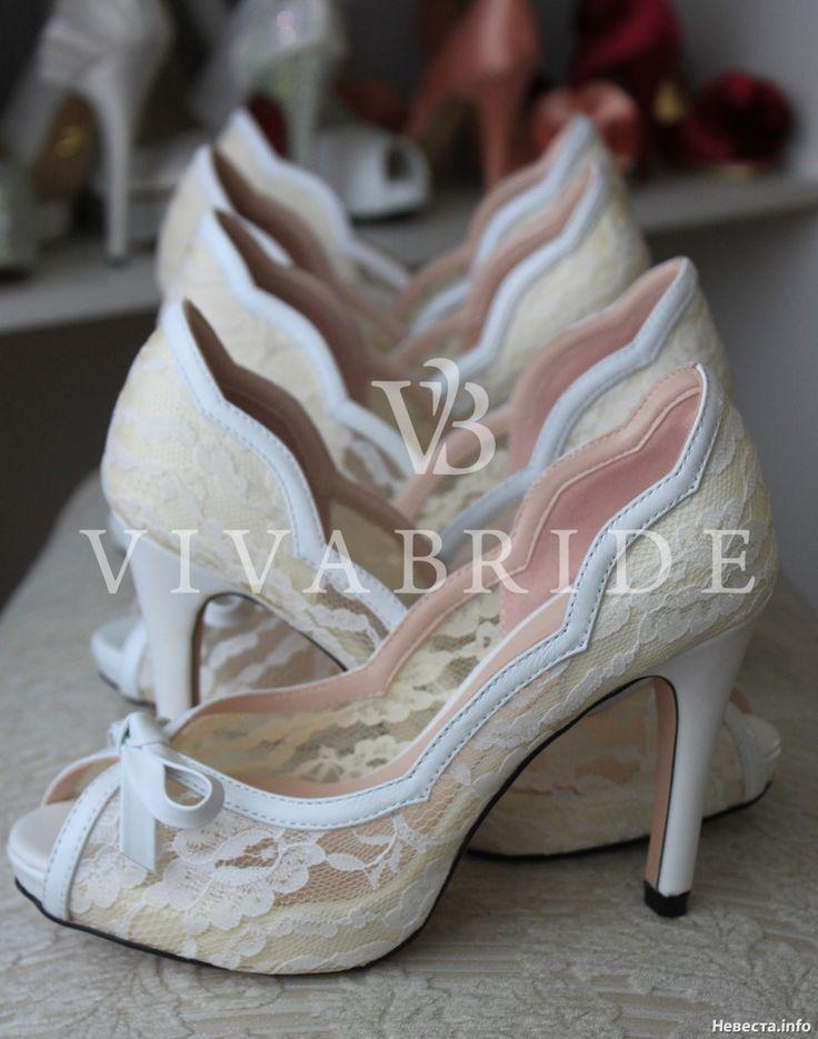 Шикарные кружевные свадебные туфли от VivaBride, купить свадебные туфли в Москве