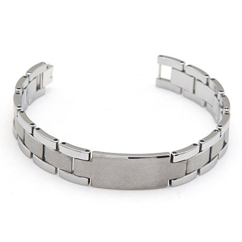 Jemis Men' s Velvet Silver Tungsten Bracelet (Black) Jemis http://www.amazon.com/dp/B00RLG7QCQ/ref=cm_sw_r_pi_dp_Juhyvb1318B3S