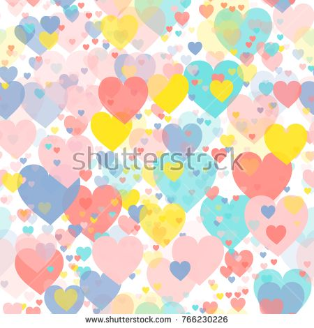 Valentines day hearts illustration. Pattern of hearts. Seamless background. Stock photography, images, pictures, Illustrations, ideas. Download vector illustrations and photos on Shutterstock, Istockphoto, Fotolia, Adobe, Dreamstime