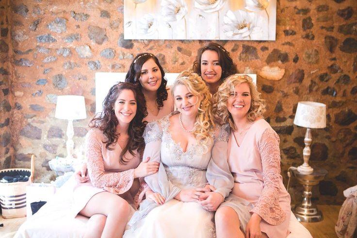 Bridesmaids, wedding photo ideas, pink and grey wedding, pink bridesmaids dresses, bride hair, wedding hairstyles