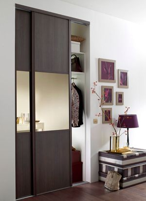 24 best porte de garde-robe images on Pinterest Sliding closet - prix porte coulissante sur mesure
