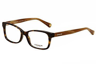 56b2030e02d8 Coach Libby Eyeglasses HC6047 5204 Dark Tortoise Light Brown Horn Demo Lens  51 16 135