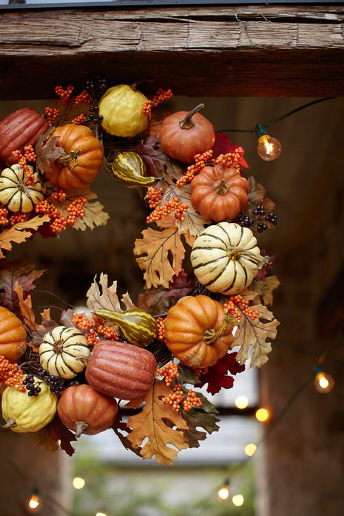 Harvest wreath | Pottery Barn via By Stephanie Lynn #wreaths