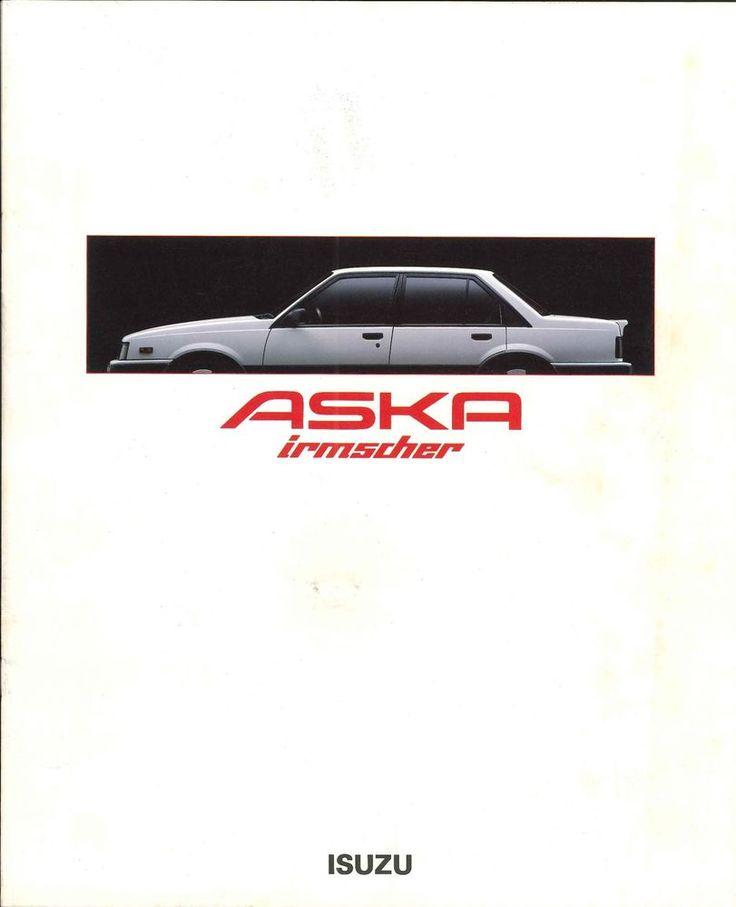 Japanese Brochure ISUZU ASKA Irmscher Sales Classic Car Catalog - sales brochure