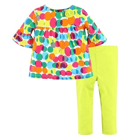 Girls Clothing - Girls Colour Pop Outfit
