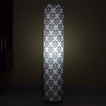 This lamp is a handmade product lamp shade is being created by iron wires and