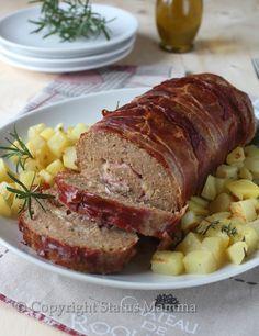 Polpettone ricetta cucinare secondo con carne semplice e conomico ricetta per bambini Statusmamma Gialloblogs con carne foto foodblogger