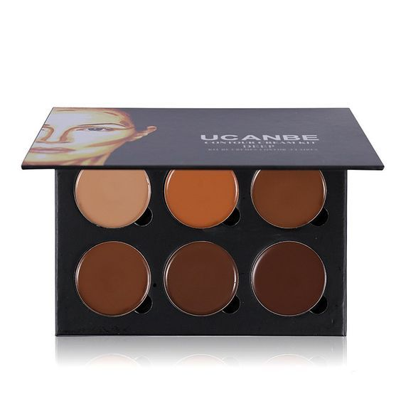 Ucanbe Cream Contouring Palette - Highlighting and Bronzer Makeup Kit / Concealer Pallet (Deep) -- Quickly view this special  product, click the image : Travel Makeup