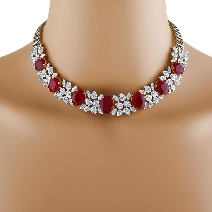 Majestic ruby diamond necklace 1446904978 look | Jewelry Online Store