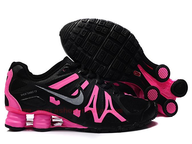 Hot Pink nike shocks | Hot Sale Nike Shox Turbo 13 Womens Mesh Shoes Black Pink Qls768