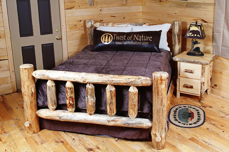 Twist of Nature makes & sells handcrafted log furniture & home accessories. Order your Handmade Log Bed Frame starting at $499. $65 Flat Rate Shipping!