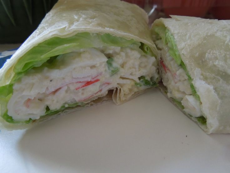 Imitation Crab Salad Wraps - Imitation crab is a winner as it is low calorie, low fat and low carb.