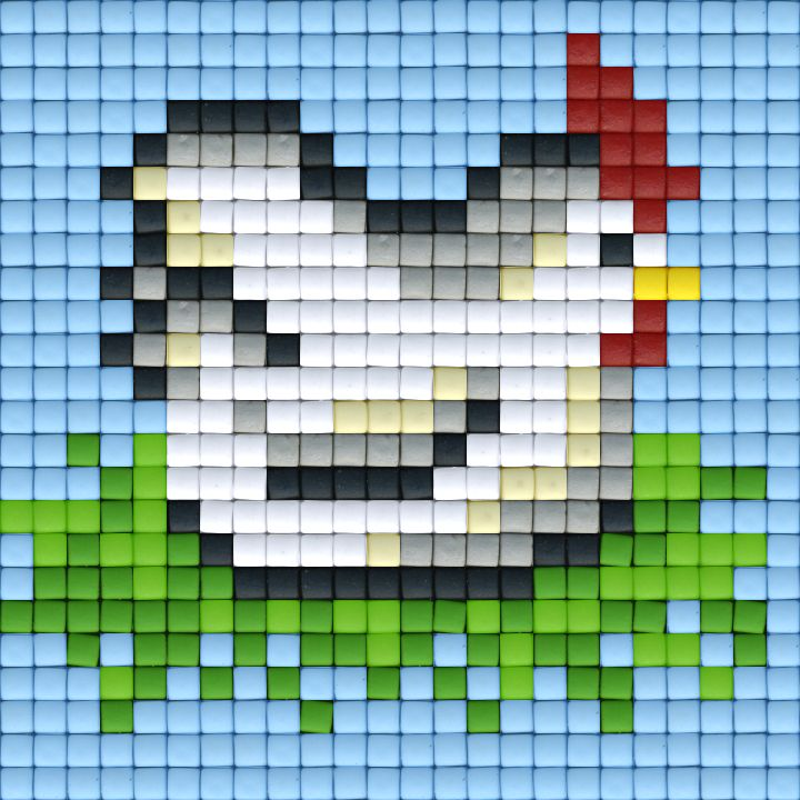 Chicken cross stitch.