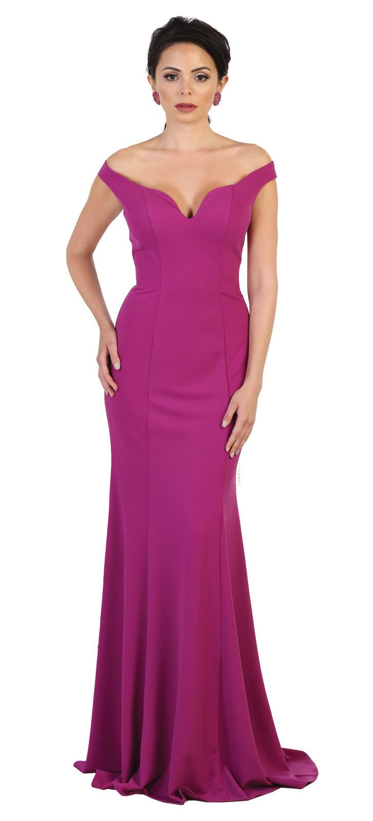 Special Occasion Simple Evening Fitted Gown Designer Off The