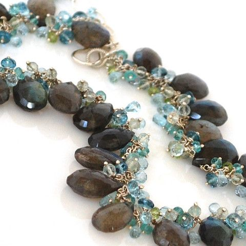 Labradorite Necklace with Blue Topaz, Green Amethyst, Peridot and Apat – Amy Holton Designs