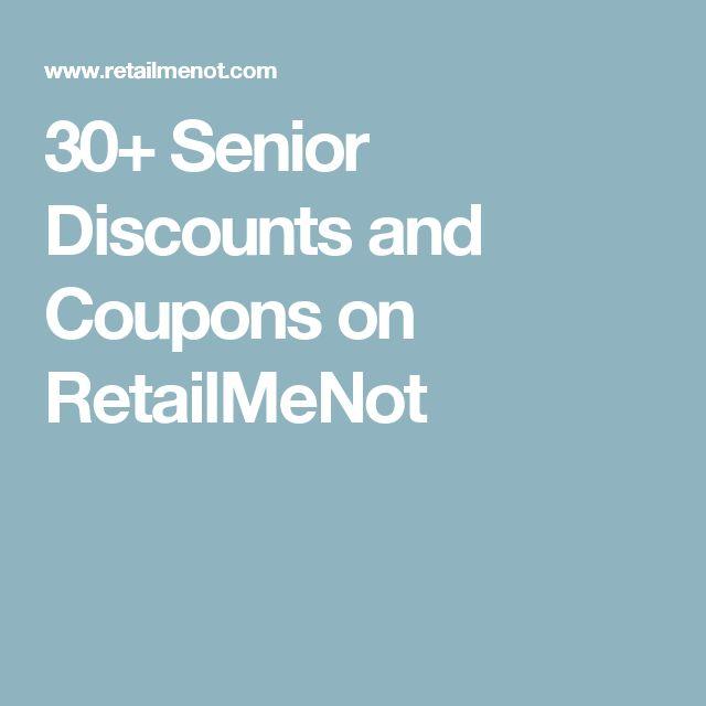 Senior discount coupons