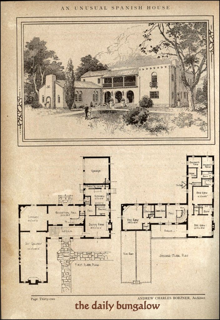 120 best 1910 1940 mediterranean revival images on for Spanish colonial house plans