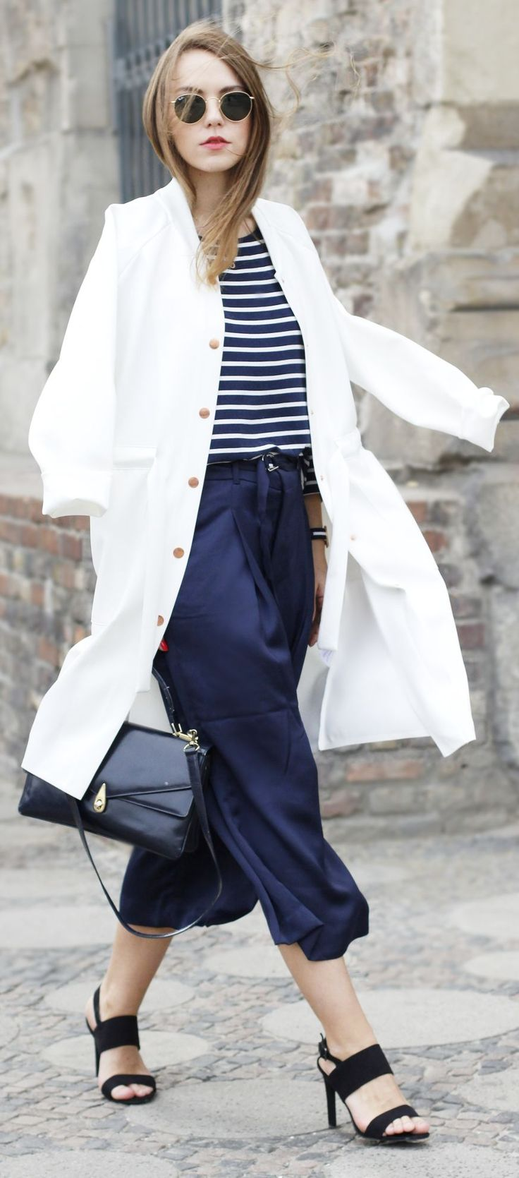 Spring Stripes Casual Chic Style by Goldschnee