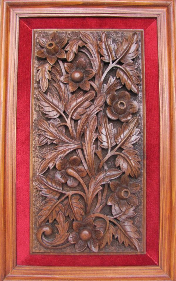 Decorative panel floral motif g woodcraft