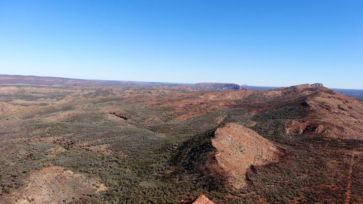 View from the top of the East MacDonald Ranges adjacent to Trephina Gorge