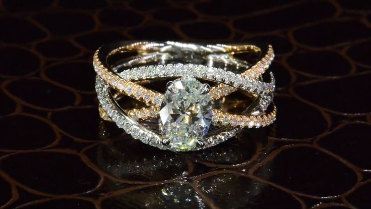 Oval Diamond Ring in Organic Setting