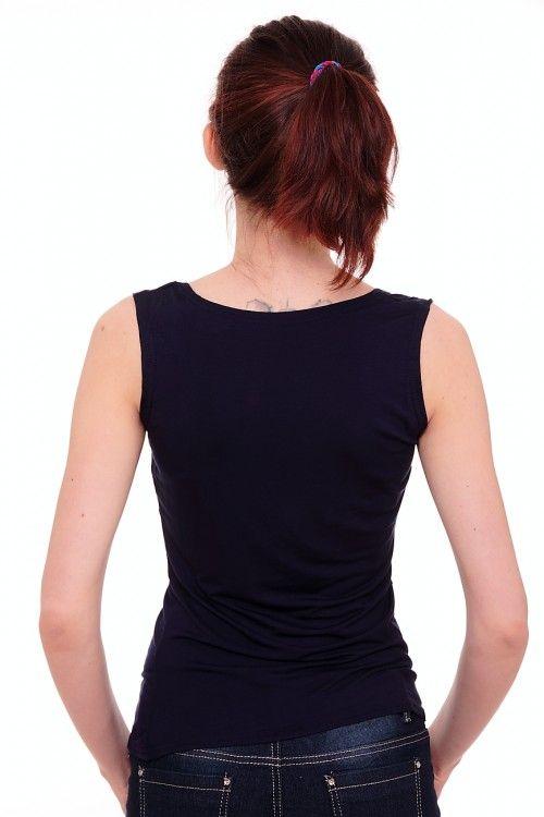 Майка А6947 Размеры: 46-48 Цвет: темно-синий Цена: 225 руб.  http://optom24.ru/mayka-a6947/  #одежда #женщинам #майки #оптом24