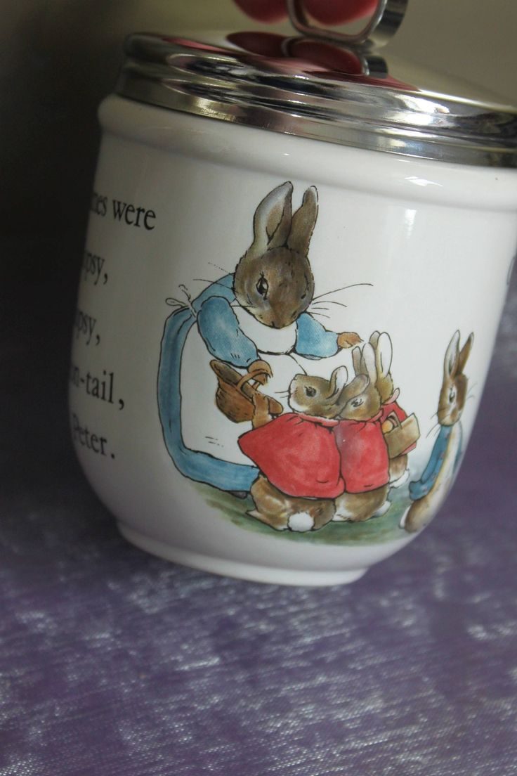 Peter Rabbit King Size Egg Coddler by Wedgwood of Great Britain. Collectable Egg Coddler. by AtticBazaar on Etsy