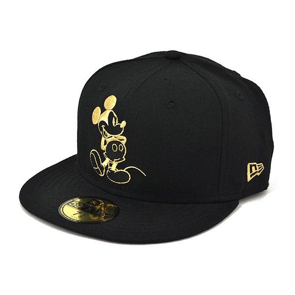 DISNEY x NEW ERA「Mickey」59Fifty Fitted Baseball Cap ❤ liked on Polyvore featuring accessories, hats, cap, baseball hats, disney, fitted hats, disney caps and disney hats