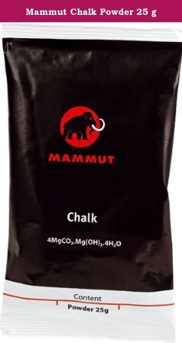 Mammut Chalk Powder 25 g. 25 g chalk shot to quickly fill the chalk bag with very fine, basic magnesium carbonate for excellent friction, ensuring top performance on rocks and artificial climbing walls.