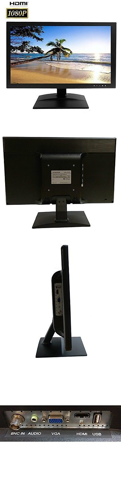 Surveillance Monitors Displays: 101 Audio Video Inc. 101Av Security Monitor 21.5-Inch Color Led Lcd Screen Audio BUY IT NOW ONLY: $220.07