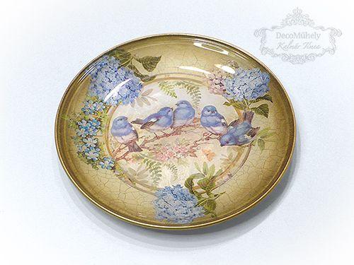 Pentart dekor: Hortenziás tányér néhány lépésben