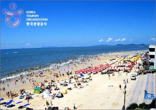 Daecheon beach in Boryeong. Mud festival