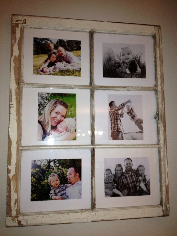 Old Window Picture Frame by ReNewView on Etsy, $125.00