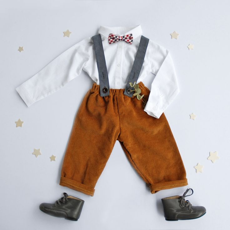 corduroy pants smart outfit for little boy