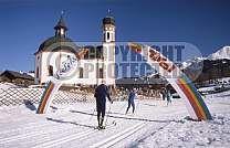 austria seefeld  tyrol winter sports seefeld church