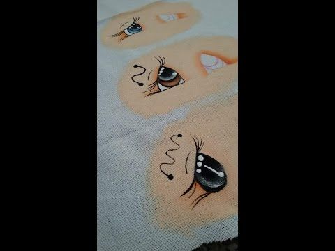 Pintando ojos en tela