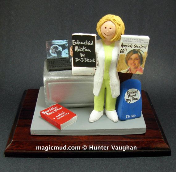 Customized Female Doctor's Gift  www.magicmud.com    1 800 231 9814    magicmud@magicmud.com $225  Personalized #Medical Gift Figurines, custom created just for you!    Perfect present for all #Doctors, a  heartfelt gift for birthdays, graduations, anniversaries, new office openings, retirement, as a thank you to a great #physician  Surgeon, cardiologist, therapist, nurse, ob-gyno, podiatrist, psychiatrist, nephrologist, urologist, radiologist, any occupation made to to order by #magicmud