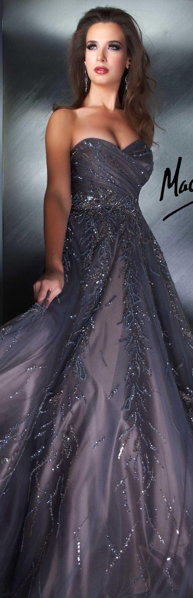 Mac Duggal couture dress  taupe COUTURE DRESSES  STYLE 1197D LOVE THIS! <3