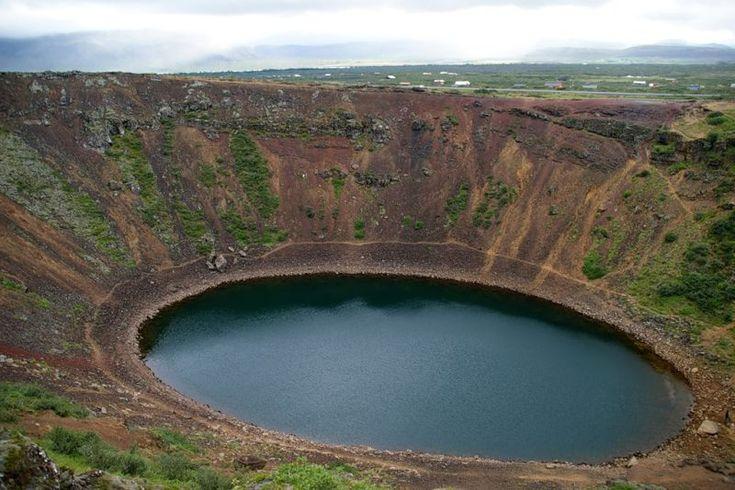 Керид (Kerid) — кратерное озеро в Исландии - Туристический портал - Мир красив!