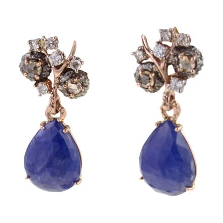 EarringsProducts Display, Federica Rettor, Fashion Styles, Drop Dead, Earrings 6375, Sapphire Drop, Diamonds Drop Earrings, Rettor Sapphire, Dreams Closets