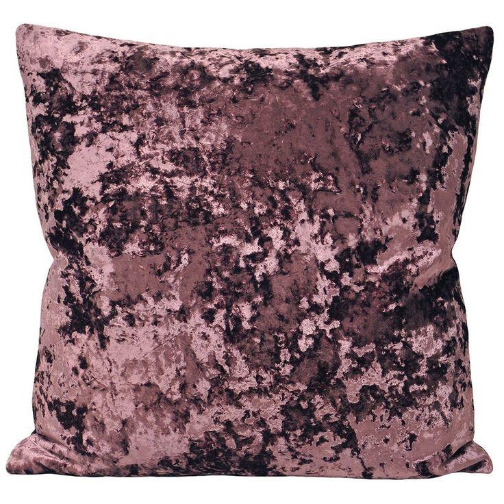 50x50 cm Luxury Crushed Velvet Cushion Cover, Aubergine Purple Cushion - PASX UK