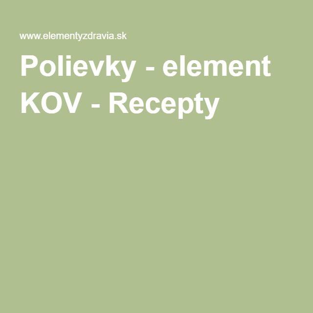 Polievky - element KOV - Recepty