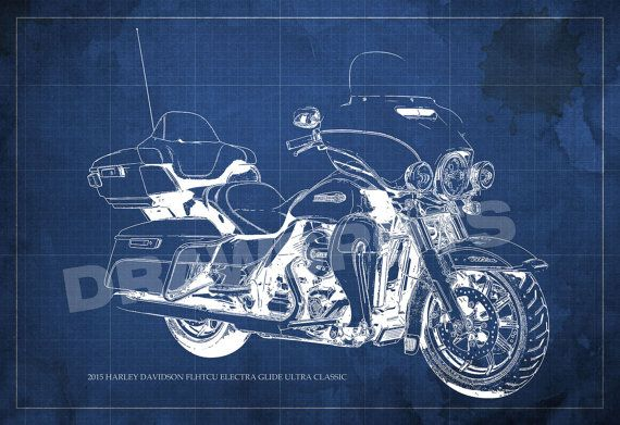 2015 Harley Davidson FLHTCU Electra Glide Ultra Classic Blueprint 8.25x12inches and LARGER Sizes Original Handmade Drawing  Digitally printed on Archival Matte Paper, professional quality. The watermark not appear in prints.  NOTE: Colors may vary from screen to screen. Unframed  Prints will be shipped Rolled In A Cardboard Tube. I send my prints off to their new home within 3-5 days of payment. I ship my international orders by air after Im notified of your payment, and taking between 5to…