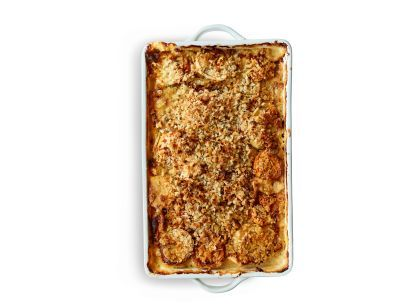 Get this all-star, easy-to-follow Root Vegetable Gratin recipe from Ina Garten