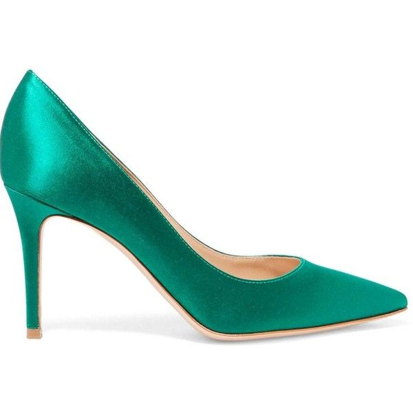 Green 36 2018 New Simple Green Color Tine Tips for High Heels (180 PEN) ❤ liked on Polyvore featuring shoes, pumps, high heeled footwear, green shoes, green pumps, high heel court shoes and high heel shoes