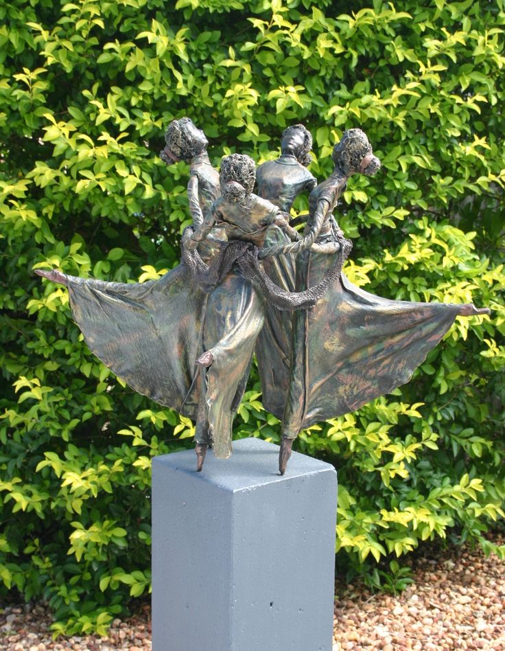 Superior Four Dansers · Garden SculpturesLand ArtClay CraftsCreative Inspiration ProjectsGarden ... Idea