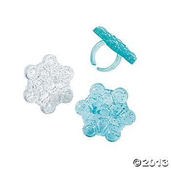 Snowflake Rings, Rings, Novelty Jewelry, Costumes, Accessories & Jewelry, Party Supplies - Oriental Trading