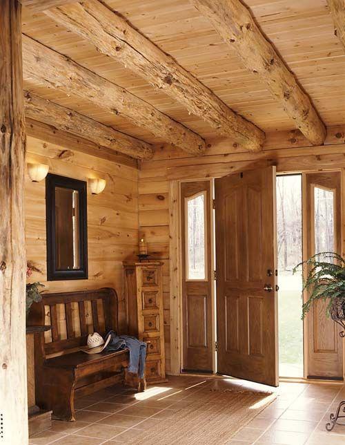 Foyer Interior Kit : Best rustic living log home timber frame