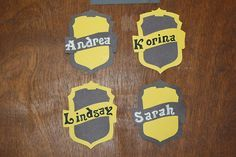 This will be great with my Harry potter themed board! Residence Life Crafts — Hufflepuff badge door decs