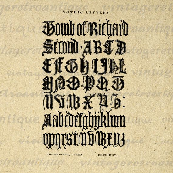 1000 Ideas About Gothic Alphabet On Pinterest Old